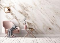 Perete decorativ de marmura pentru living