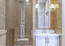 Perete cu mozaic de marmura pentru baie
