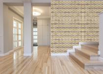 Perete cu mozaic de marmura pentru hol