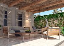 Pavarea terasei exterioare cu marmura