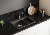 Blat de marmura neagra pentru bucatarie
